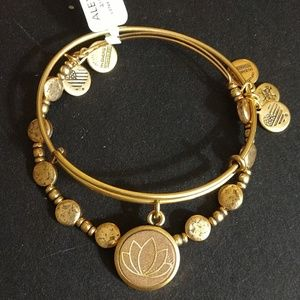 "ALEX AND ANI ""LOTUS PEACE PETALS SET OF 2"" BNWT!!"